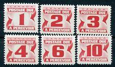 Canada Scott J21-J24, J26-J27 Postage Due 20x17mm MNH 1967