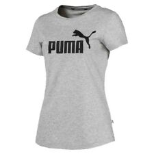 PUMA ESS Logo Tee Light Gray Heather M