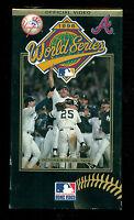 1996 World Series Yankees vs Braves VHS !!  Official Video !!