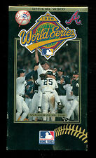 1996 World Series Yankees vs Braves VHS !!  Official Video !!