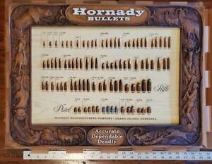 Vintage Hornady Bullet Board Display Advertising w/ Original box