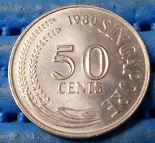 1980 Singapore 50 Cents Lion Fish Coin