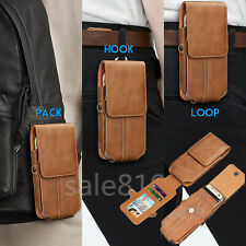 Card Wallet Waist Pouch Belt Clip Holster Carrying Phone Case PU Leather Cover