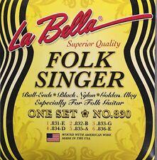 La Bella Strings Black Nylon. Juego De Cuerdas Para Guitarra Clásica #830