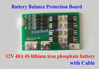 12V 40A 4S Lithium iron Phosphate Battery Protection Board w/ Balanced car start