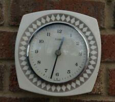 """Vintage KIENZLE ceramic wall clock. Electro mechanical """"rementoire"""" movement."""
