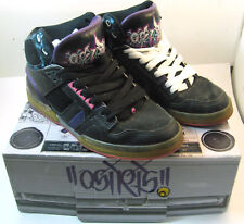 Osiris Bronx OG Purple/Black/RISK NYC 83 Size 9 Rare Skateboard Sneaker VTG Shoe