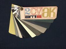 Rare Nuancier Colori Peinture 2CV AK AZU AMI 6 DYANE Citroën 1966 Colour Chart