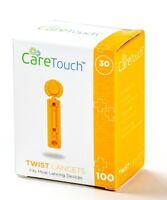 Care Touch Twist Top Lancets, 30 Gauge - 100 Lancets