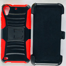 HTC Desire 530 Hybrid Phone Case Hard & Soft Rubber Cover Clip Holster Kickstand