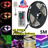 5M RGB 5050 Waterproof LED Strip light SMD 44 Key Remote 12V US Power Full Kit~
