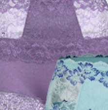 Rhonda Shear Pin Up Lace Detail Briefs 3XL LAVENDER JC