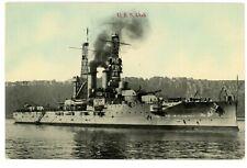 Military/Navy -BATTLESHIP U.S.S. UTAH AT SEA- H.H Stratton Postcard Ship/USS