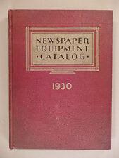 Newspaper Equipment CATALOG - 1930 ~~ printing