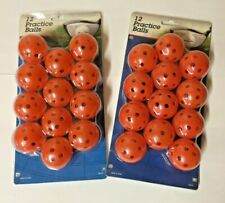 24 Intech Practice Plastic Perforated Golf Balls - 2-12 Packs - Orange
