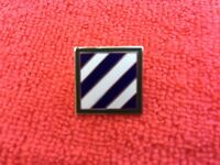 "US ARMY 3RD INFANTRY DIVISION ""ROCK OF THE MARNE"" HAT/LAPEL PIN"