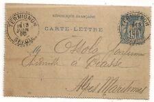 FACTEUR BOITIER TERMIGNON SAVOIE SUR CARTE LETTRE SAGE. 1898. L 1172