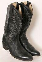Dan Post 16770 Mignon Classic Black Pull On Stitched Cowboy Boots Men's US 9.5D