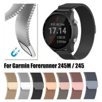 Milanese Loop Watch Band 20mm Magnetic Strap for Garmin Forerunner 245M / 245