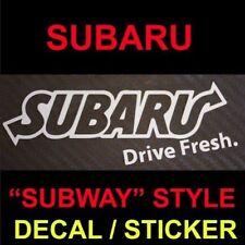 Subaru Drive Fresh Subway Decal sticker JDM STI graphics