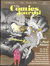 THE COMICS JOURNAL # 72 FANZINE MAGAZINE NEAL ADAMS ISSUE INTERVIEW & ART 1982