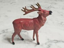 """Vintage Putz Cast Lead Metal Reindeer No 473 Miniature 3.5"""" Made in Japan"""