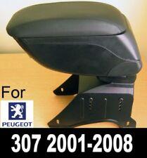 Accoudoir Console Central en Cuir Noir Spécifique pour Peugeot 307 2001-2008