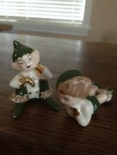 Vintage Elf Elves Pixie Figurine Gold leaf Spagetti Fairchild?