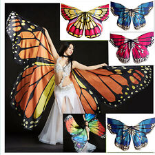 NEW 2017 Lady Butterfly Belly Dance Costume Isis Wings Egyptian Dance Wear Props