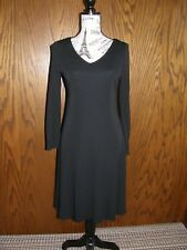 3010) Talbots Petites Black Dress V-Neck LS Size 4 Lined For All Occasions NWT