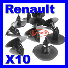 RENAULT TRAFIC WHEEL ARCH LINING SPLASH GUARD TRIM CLIPS BLACK PLASTIC x 10