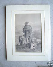 Vintage Print Two Boys and Dog in Field LOOK