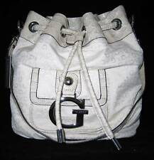 GUESS by Marciano Logo Primary Sac a Main Porté Epaule Hobo Milk Neuf