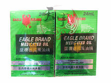 2 x Eagle Brand Medicated Oil 24 ml Liniment for muscular aches and pains