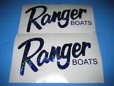 Ranger Boat decal set ( 2 decals ) blue metal flake