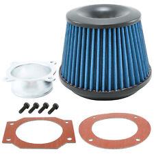 Universal Sport Luftfilter 76mm / 160mm Lang Performance Air Intake Tuning Blau
