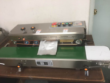 DINGYE USA STOCKED STAINLESS STEEL HORIZONTAL CONTINUOUS BAND SEALER &EMBOSSER