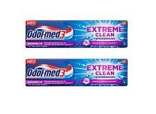 2x Odol-med 3 Extreme Clean Tiefenreinigung Zahnpasta 75 ml