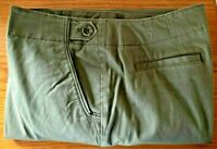 Talbots Chino Ladies Pants Trousers Size 12, Olive Green, Very Gently Worn