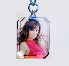 Personalized Custom Your Own Picture Crystal Glass Photo Keychain Keyring Gift