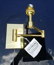 NEW Hand Polished Brass EXTENDING  SWING ARM WALL LIGHT BRACKET