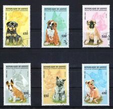 GUINEE 1996 DOGS PERROS CHIENS CAES DOMESTICATED ANIMALS FAUNA STAMPS MNH CTO