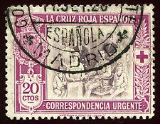 ESPAÑA 1926. Pro Cruz Roja Española. 20 c. lila y castaño. Usado. Edifil 338.