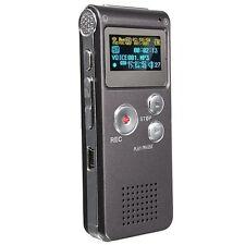 Neuer Wiederaufladbarer 8GB 650Hr Digitaler Audio Diktaphon MP3 Player Voice DE