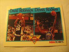 NBA Card DAVID ROBINSON Dennis Rodman 1991 NBAHOOPS 311 [b5b5]
