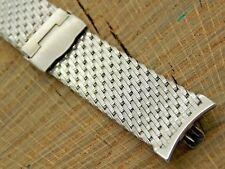 Kreisler NOS Unused Stainless Vintage Watch Band 19mm Sliding Clasp Bracelet