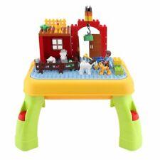 Baustein Spieltisch Multifunktionale Gebäude Tisch Kinderspielzeug Tisch wq
