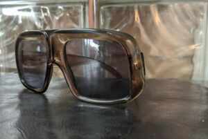 Rare Model Vintage 70's Optyl Playboy Square Frame Sunglasses-Retro French Mod!