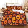 3D Halloween Pumpkin Quilt Cover Set Bedding Duvet Cover Single/Queen/King 202