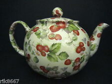 Heron Cross Pottery Strawberry Cream Chintz 6-8 Cup English Tea Pot (4-5 mugs)
